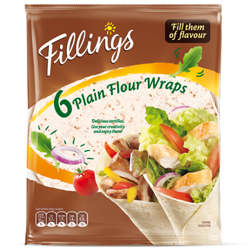 Fillings Wraps de trigo 360g